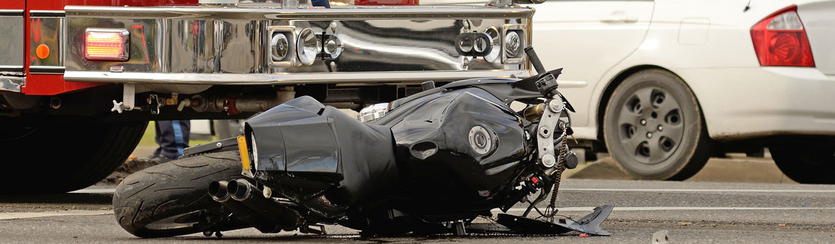 Wrecked Motorcycle Stock Photo
