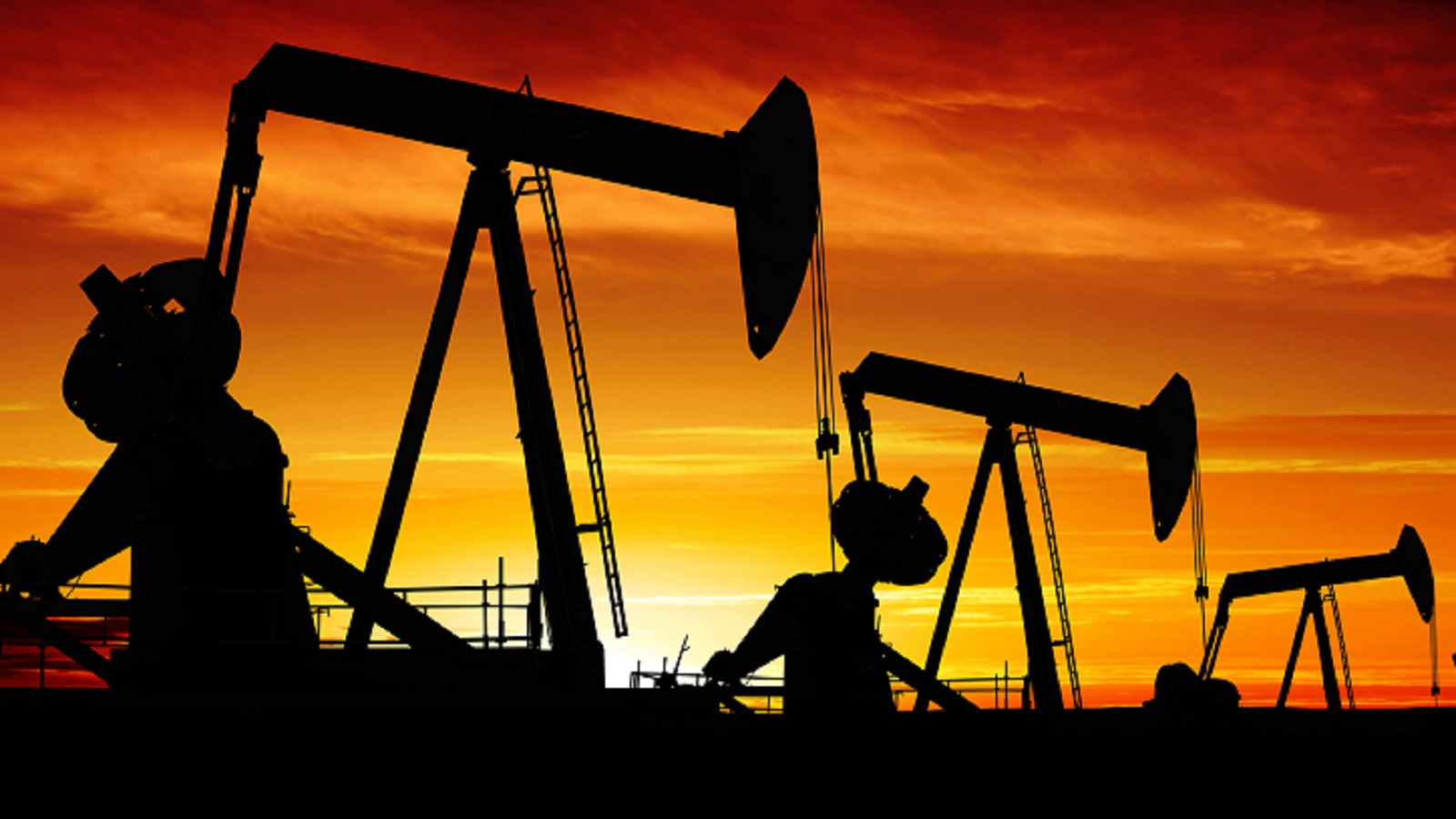Oil Drilling Site Stock Photo